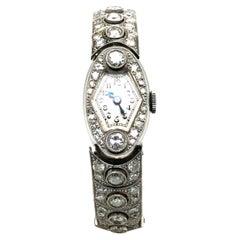 Rare Rolex Diamond Ladies Watch in Platinum 950