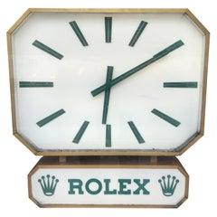 Rare Rolex Distributor Duoface Clock, circa 1970