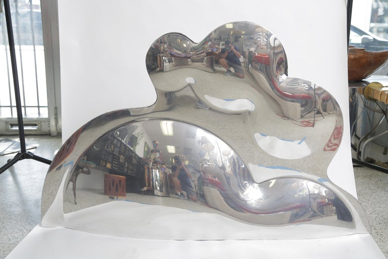 Ron Arad used aluminum blow molding to create a collection of unique works for his B.O.O.P.( Blown Out of Proportion) Series. Inflated Mirror-Polish Aluminum United Kingdom, circa 1999 This work is unique, large 33