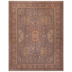 Rare Room Size Antique Khotan Rug