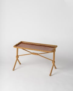 Rare Rope Side Table by Audoux Minnet, France 1960s