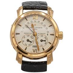 Rare Rose Gold Vacheron Constantin Complicated Perpetual Automatic Wristwatch