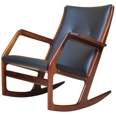 Rosewood Rocking Chair by Søren Georg Jensen