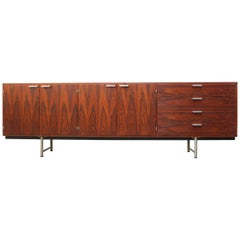 Rare Rosewood Sideboard / Credenza by Cees Braakman for Pastoe 1950 Black Silver