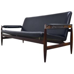 Rare Rosewood Sofa Model 112 by Leolux in the Style of Sven Ivar Dysthe, 1962