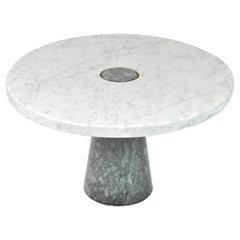 Rare Round Coffee Table, Design by Angelo Mangiarotti for Skipper, Italy, 1970