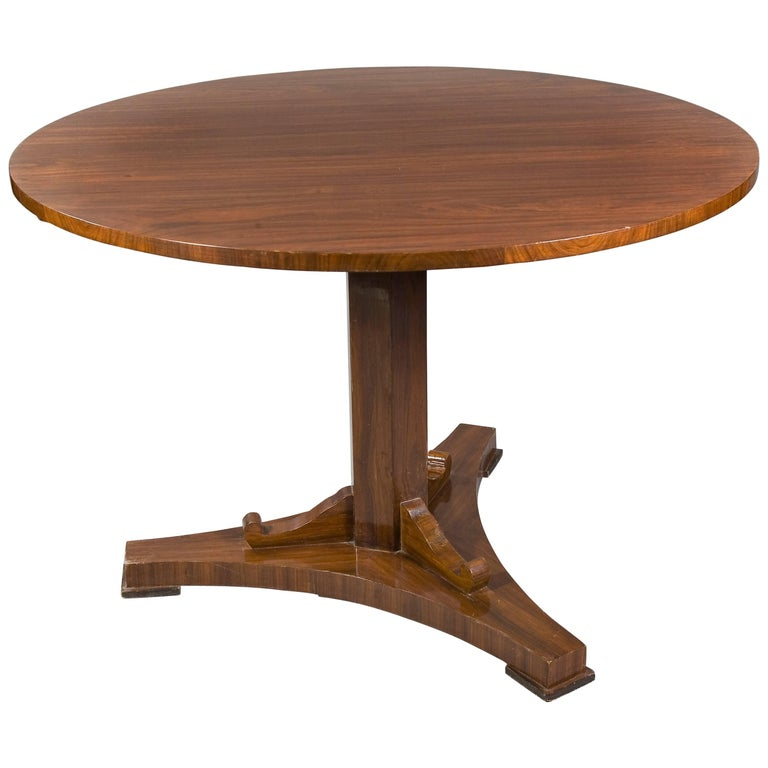 Rare Round Folding Table in Biedermeier Style For Sale