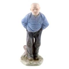 Rare Royal Copenhagen Porcelain Figurine Number 1001, Older Man
