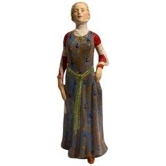 Rare Royal Doulton England Queen Philippa of Hainault HN2008 Porcelain Figurine