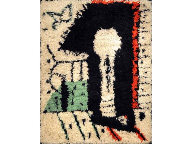 European Rare Rug Designed by Pablo Picasso,
