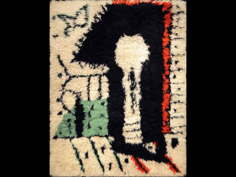 Woven Rare Rug Designed by Pablo Picasso,