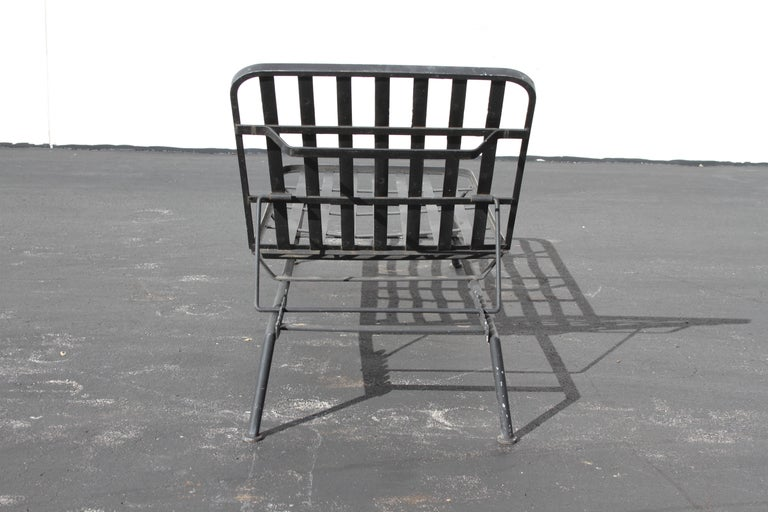 Rare Russell Woodard Wrought Iron Chaise Lounge or Daybed For Sale 6