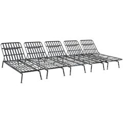 Rare Russell Woodard Wrought Iron Chaise Lounge or Daybed