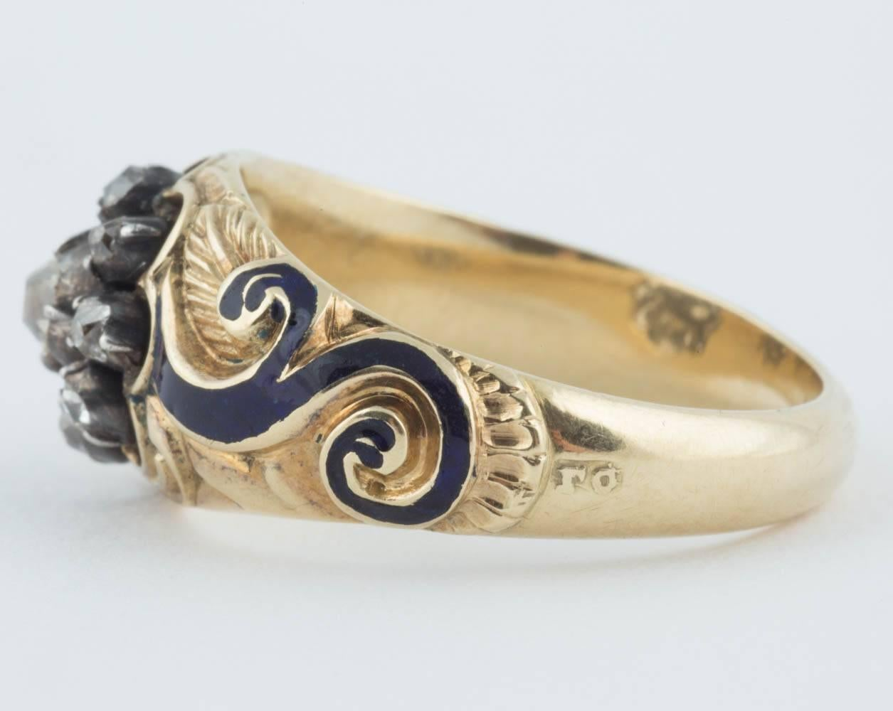 Byzantine Ring Middle Ages Bronze Hand Engraving Russia Antiquities