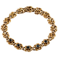 Russian Gold and Sapphire Bracelet, circa 1900