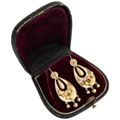 Rare Russian Gold Tassel Earrings, St. Petersburg, circa 1860