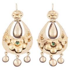 Rare Russian Gold Tassel Earrings, St. Petersburg, circa 1860