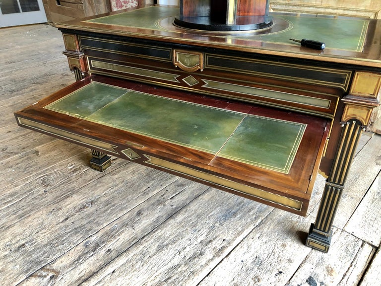 Rare Russian Neoclassical Library Table, 19th Century For Sale 7