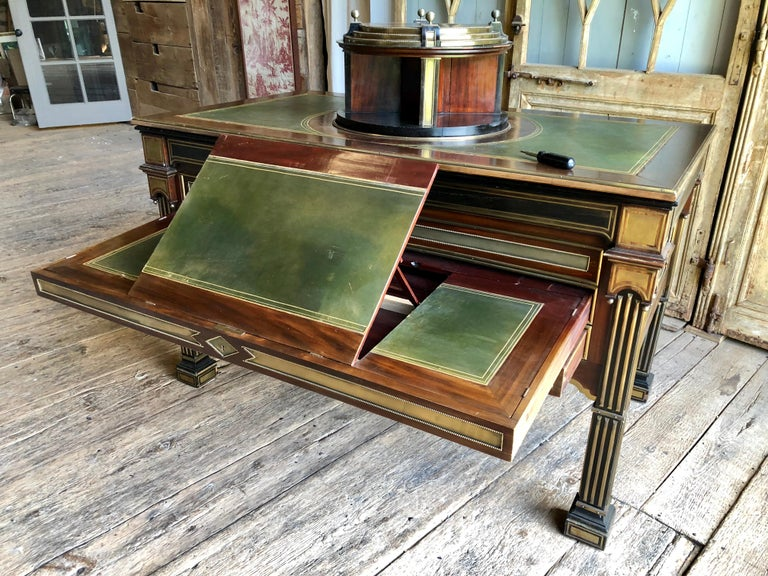 Rare Russian Neoclassical Library Table, 19th Century For Sale 8