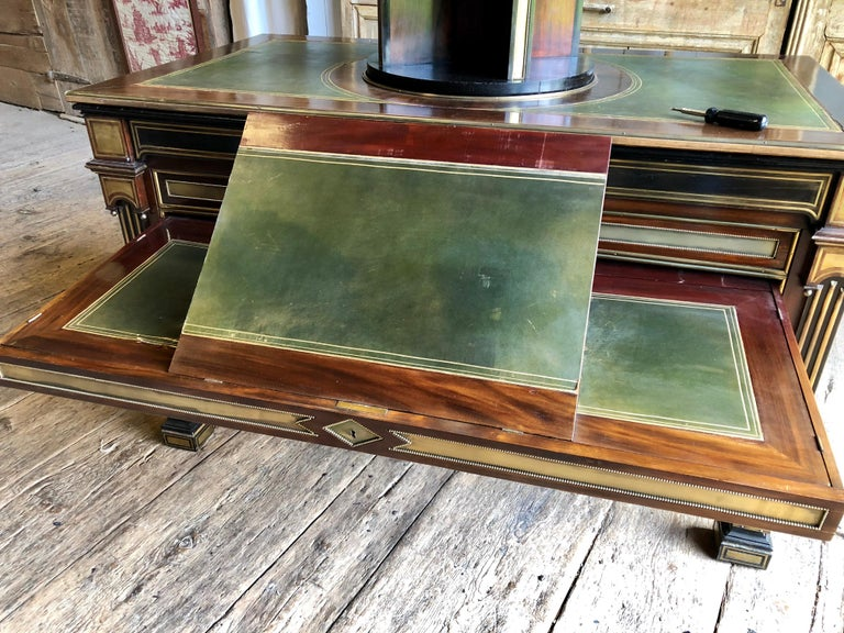 Rare Russian Neoclassical Library Table, 19th Century For Sale 10