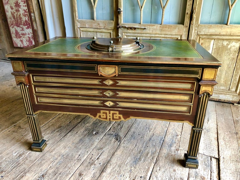Rare Russian Neoclassical Library Table, 19th Century For Sale 13