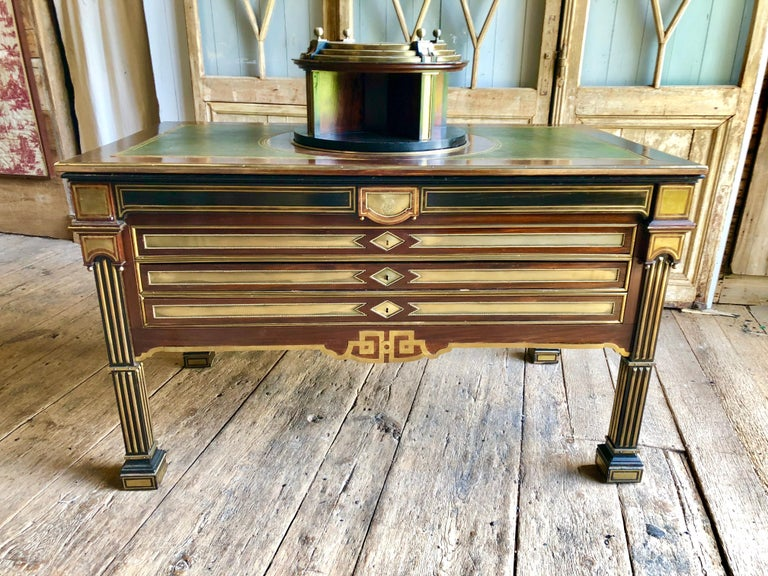 Rare Russian Neoclassical Library Table, 19th Century In Good Condition For Sale In Doylestown, PA