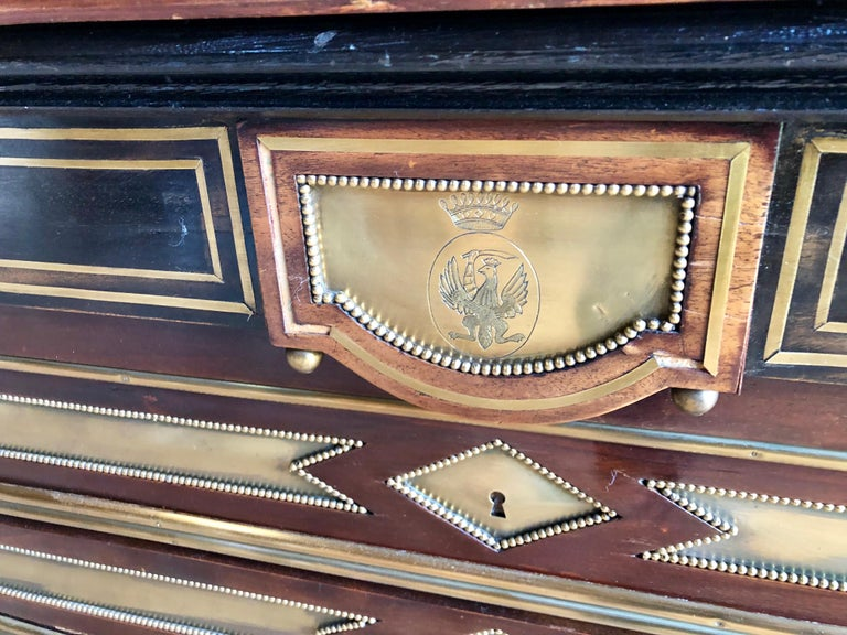 Rare Russian Neoclassical Library Table, 19th Century For Sale 3