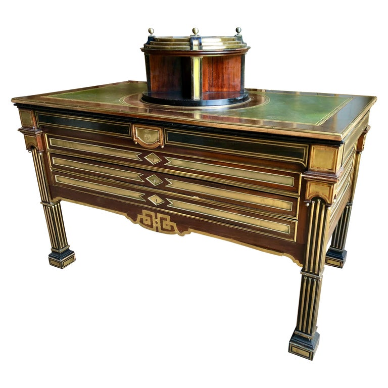 Rare Russian Neoclassical Library Table, 19th Century For Sale