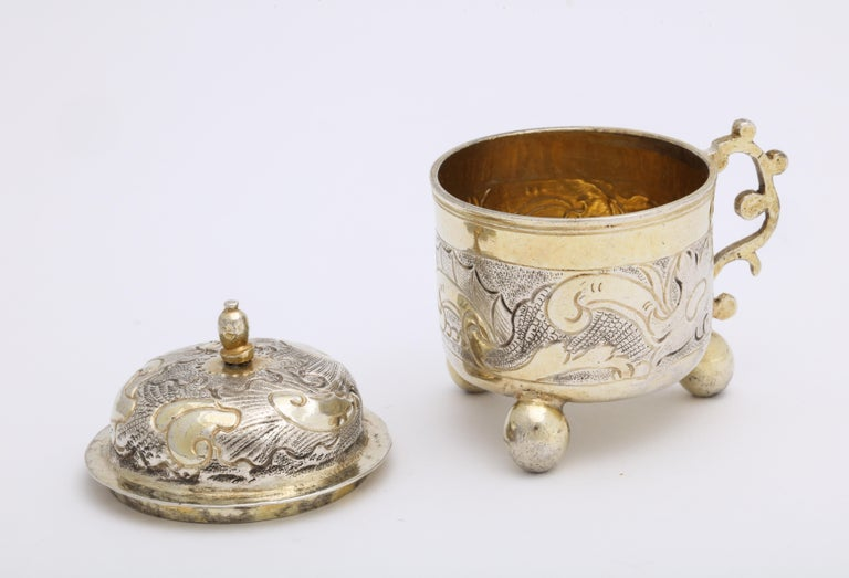 Rare Russian Parcel-Gilt Silver Covered Cup, circa 1750 For Sale 6