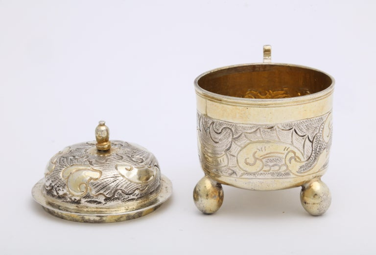 Rare Russian Parcel-Gilt Silver Covered Cup, circa 1750 For Sale 7