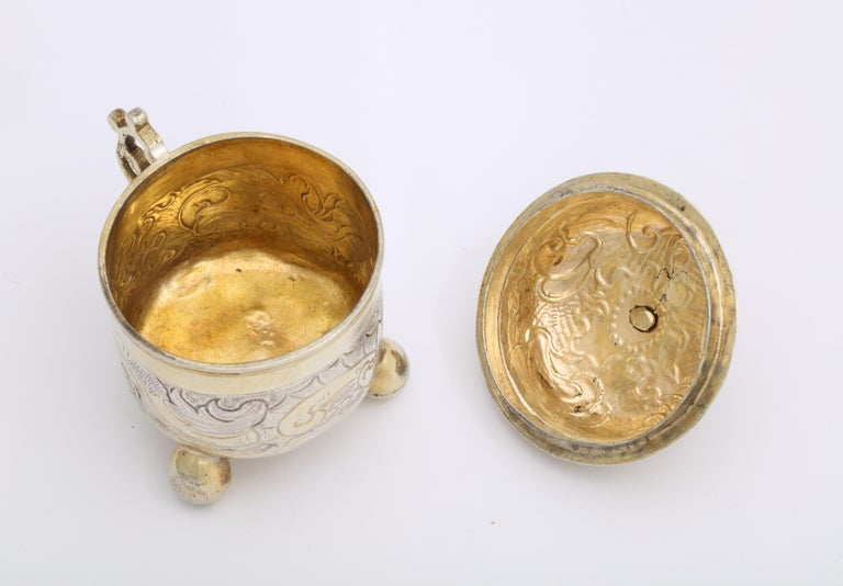 Rare Russian Parcel-Gilt Silver Covered Cup, circa 1750 For Sale 8