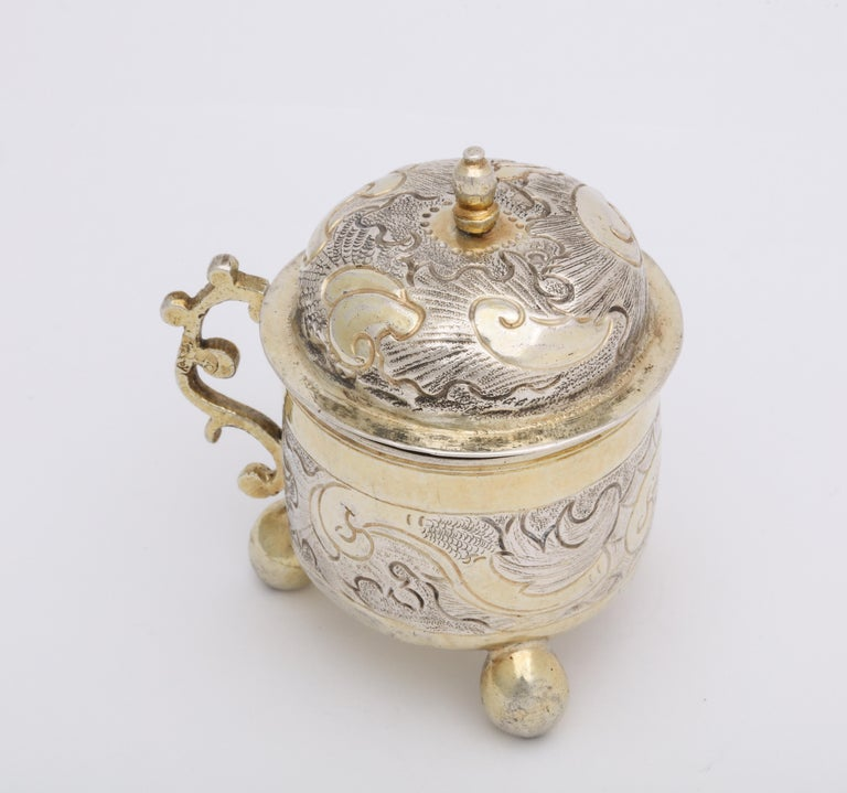 Rare Russian Parcel-Gilt Silver Covered Cup, circa 1750 For Sale 9