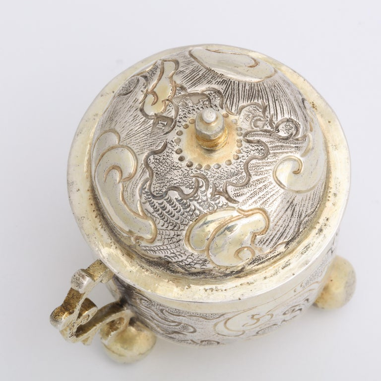Rare Russian Parcel-Gilt Silver Covered Cup, circa 1750 For Sale 11