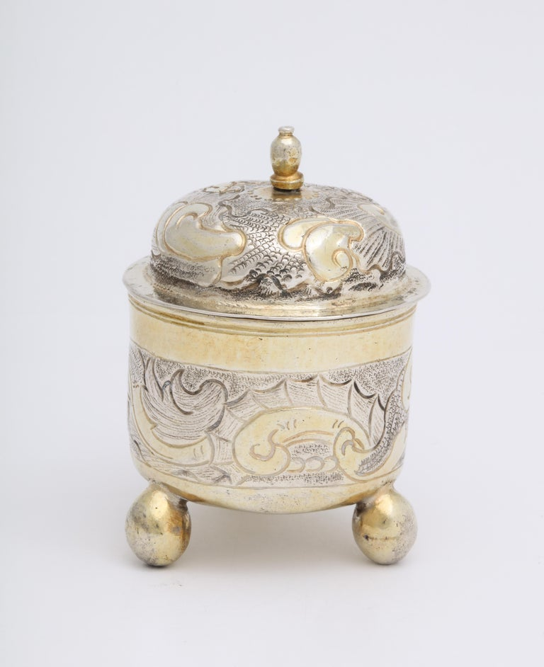 Rare Russian Parcel-Gilt Silver Covered Cup, circa 1750 In Good Condition For Sale In Lewiston, NY