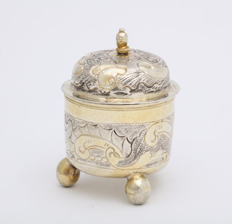 Women's or Men's Rare Russian Parcel-Gilt Silver Covered Cup, circa 1750 For Sale