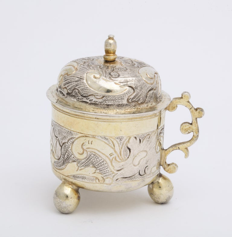 Rare Russian Parcel-Gilt Silver Covered Cup, circa 1750 For Sale 1