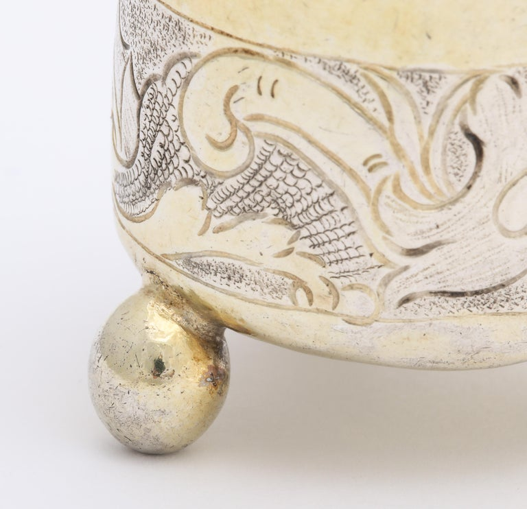 Rare Russian Parcel-Gilt Silver Covered Cup, circa 1750 For Sale 2