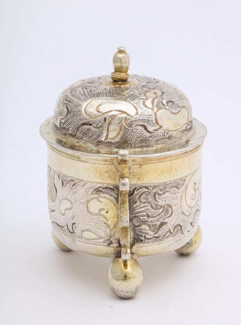 Rare Russian Parcel-Gilt Silver Covered Cup, circa 1750 For Sale 4