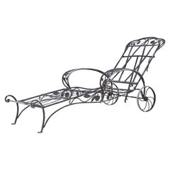 Rare Salterini Della Robbia Collection Wrought Iron Lounge Chair, No 2