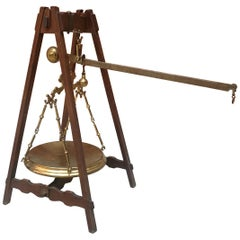 Rare Scale in Wood and Brass from Early 1900