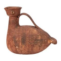 """Aldo Londi for Bitossi Rare """"Scavo"""" Ceramic Bird Pitcher"""