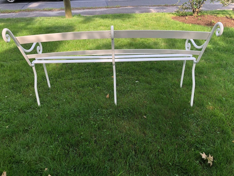 Hand Crafted Rare Scottish 19th Century Wrought Iron Garden Bench For