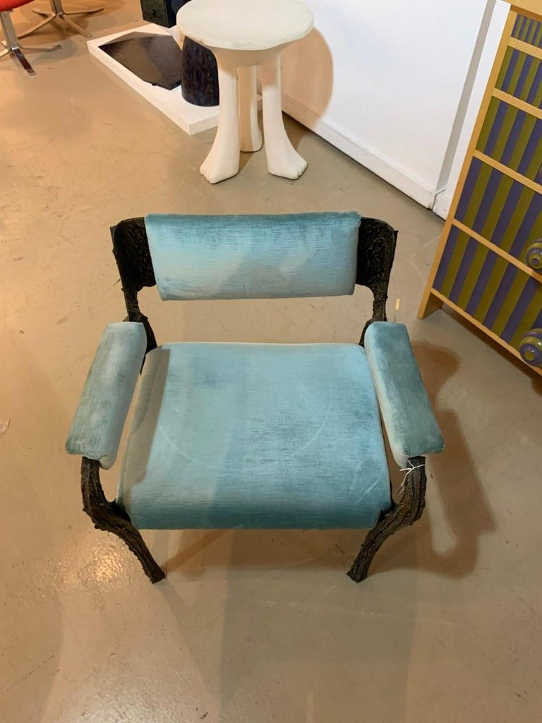 Rare Sculpted Bronze Armchair by Paul Evans for Directional For Sale 2