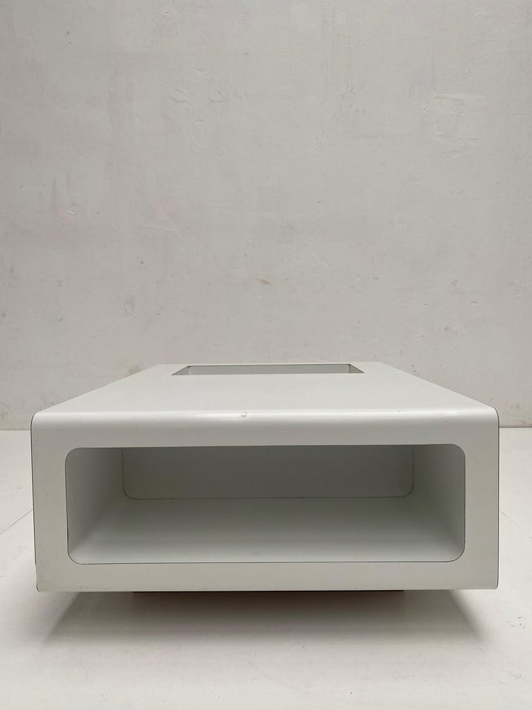 Rare Sculptual Form 'MBR 03' Coffee Table by Michel Boyer for Rouve, Paris, 1968 For Sale 3
