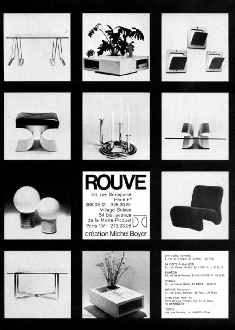 Rare Sculptual Form 'MBR 03' Coffee Table by Michel Boyer for Rouve, Paris, 1968 In Good Condition For Sale In bergen op zoom, NL