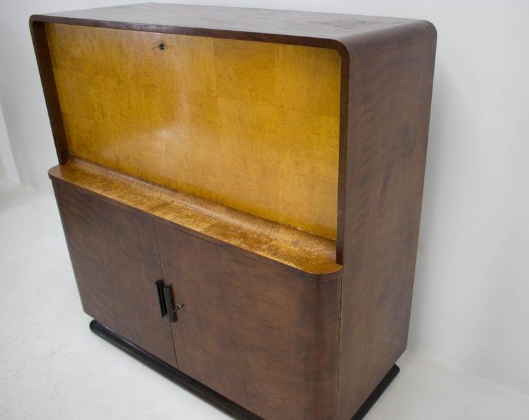 Czech Rare Secretaire by Jindrich Halabala, 1940s For Sale