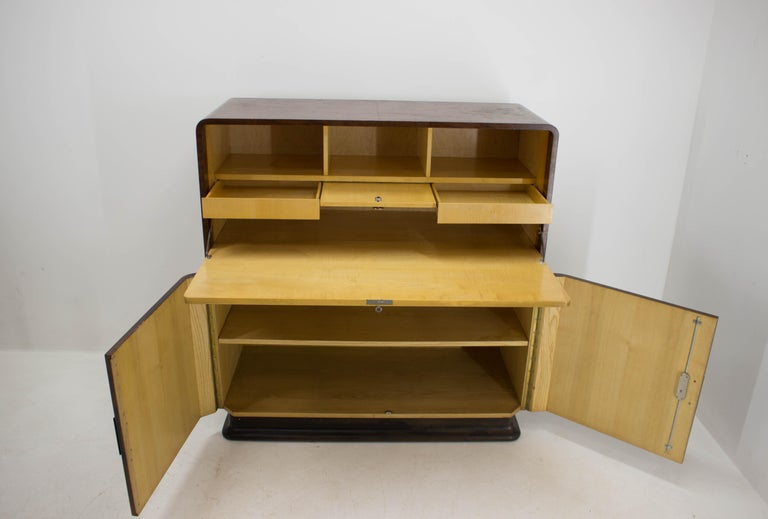 Rare Secretaire by Jindrich Halabala, 1940s In Fair Condition For Sale In Barcelona, ES