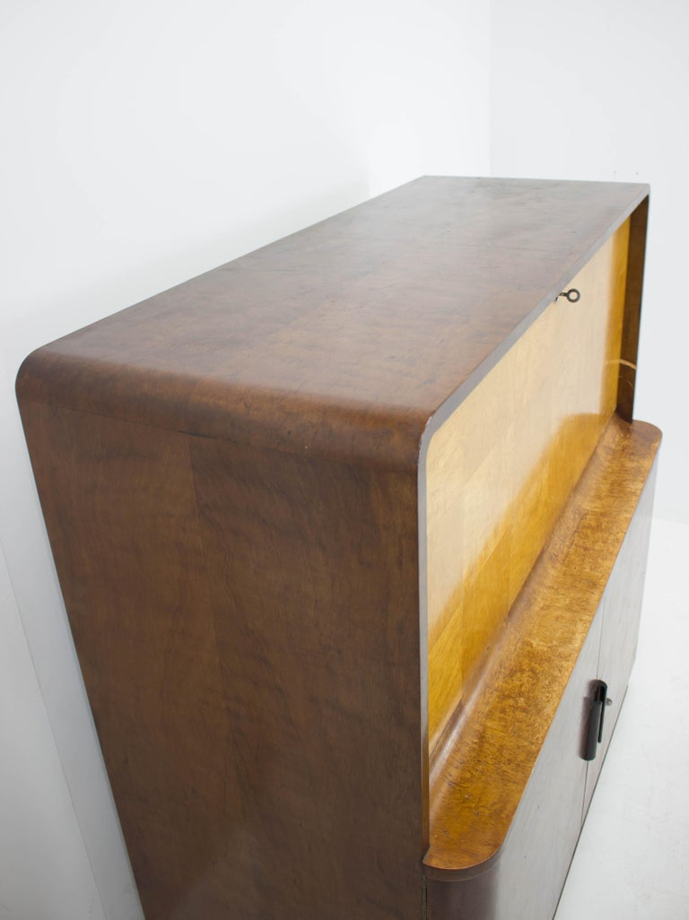 Wood Rare Secretaire by Jindrich Halabala, 1940s For Sale