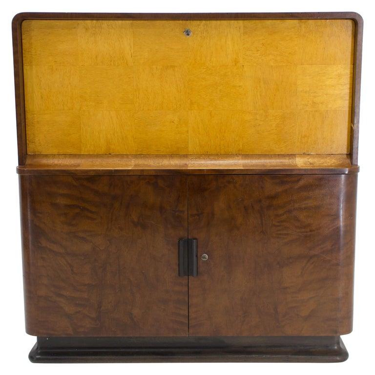 Rare Secretaire by Jindrich Halabala, 1940s For Sale