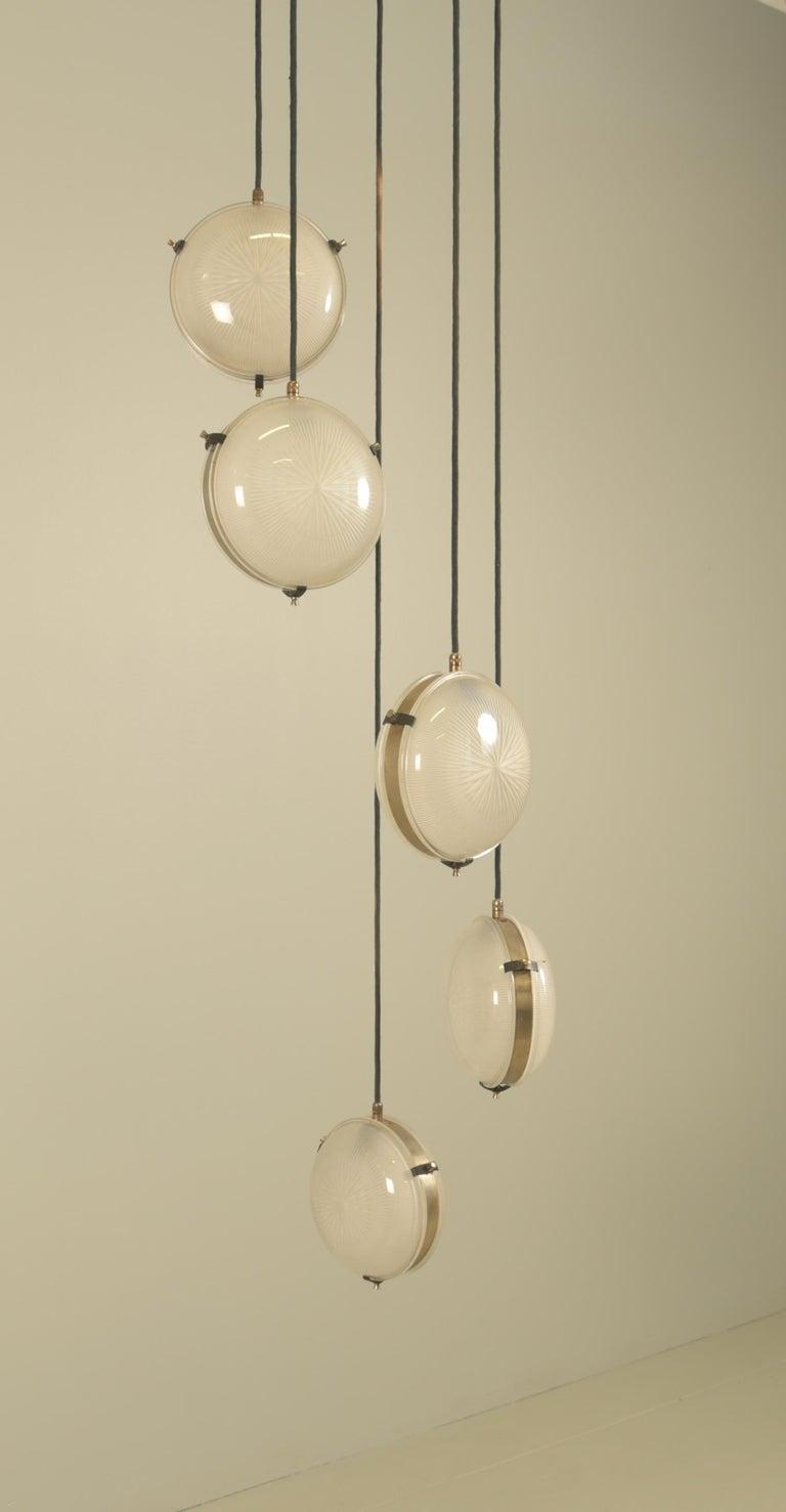 20th Century Rare Sergio Mazza 'Delta' Five Pendant for Artemide For Sale